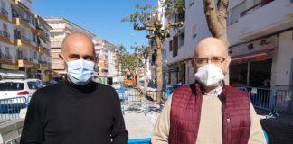 renovación del acerado la calle Miguel Hernández de Torre del Mar