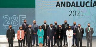 Distinciones por el Día de Andalucía por humanidad, arte, profesionalidad y trayectoria ejemplar.