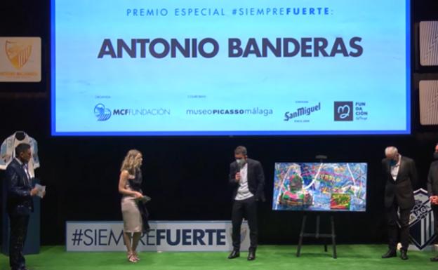 Antonio Banderas, 'Siempre Fuerte' del Málaga C.F.
