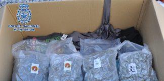 La droga era transportada en unas cajas, junto a muebles y otros enseres, por un empleado de una empresa de transporte, que sería ajeno a la trama, según las pesquisas