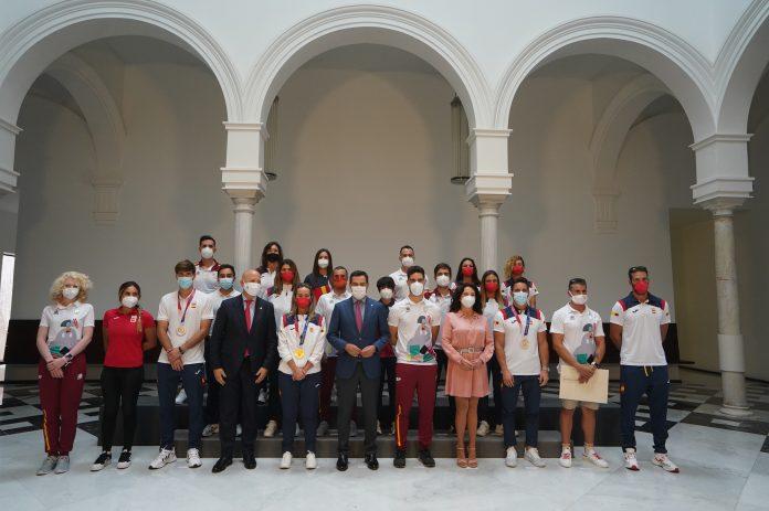 Deportistas andaluces en los Juegos Olímpicos y Paralímpicos de Tokio 2020 en San Telmo.