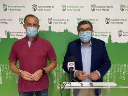 El alcalde de la ciudad, Antonio Moreno Ferrer, y el concejal de Hacienda, David Vilches