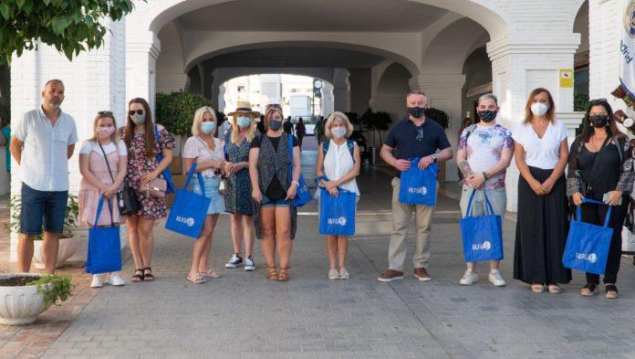 La concejala de Turismo, Gema García, ha recibido a los participantes irlandeses.