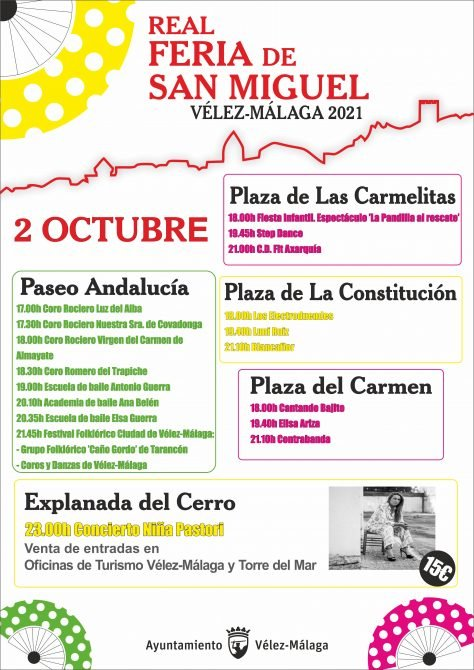 Programa Actos Feria San Miguel de Vélez-Málaga