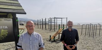 'Street Work Out' de la Playa de Levante torreña con las medidas de seguridad Covid19.