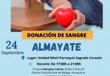La Parroquia Sagrado Corazón de Almayate (Vélez-Málaga) recibe este jueves 24 de septiembre a la Unidad Móvil para donación de sangre.