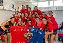 Victoria del equipo femenino de fútbol de laUD Torre del Mar